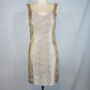 Hailey Logan gold and silver dress size Large